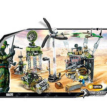 KM11701 Конструктор   военный, база, фигурки, 481дет, в кор-ке, 43-33-7см