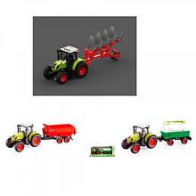 KMWY900ABC Трактор   с прицепом, инер-й, 1:16, 38см, зв,св, 3вида,на бат-ке,в кор-ке, 42-19-12см
