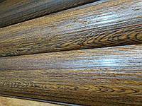 Металлический сайдинг Блок-хаус Бревно структурный Золотой дуб