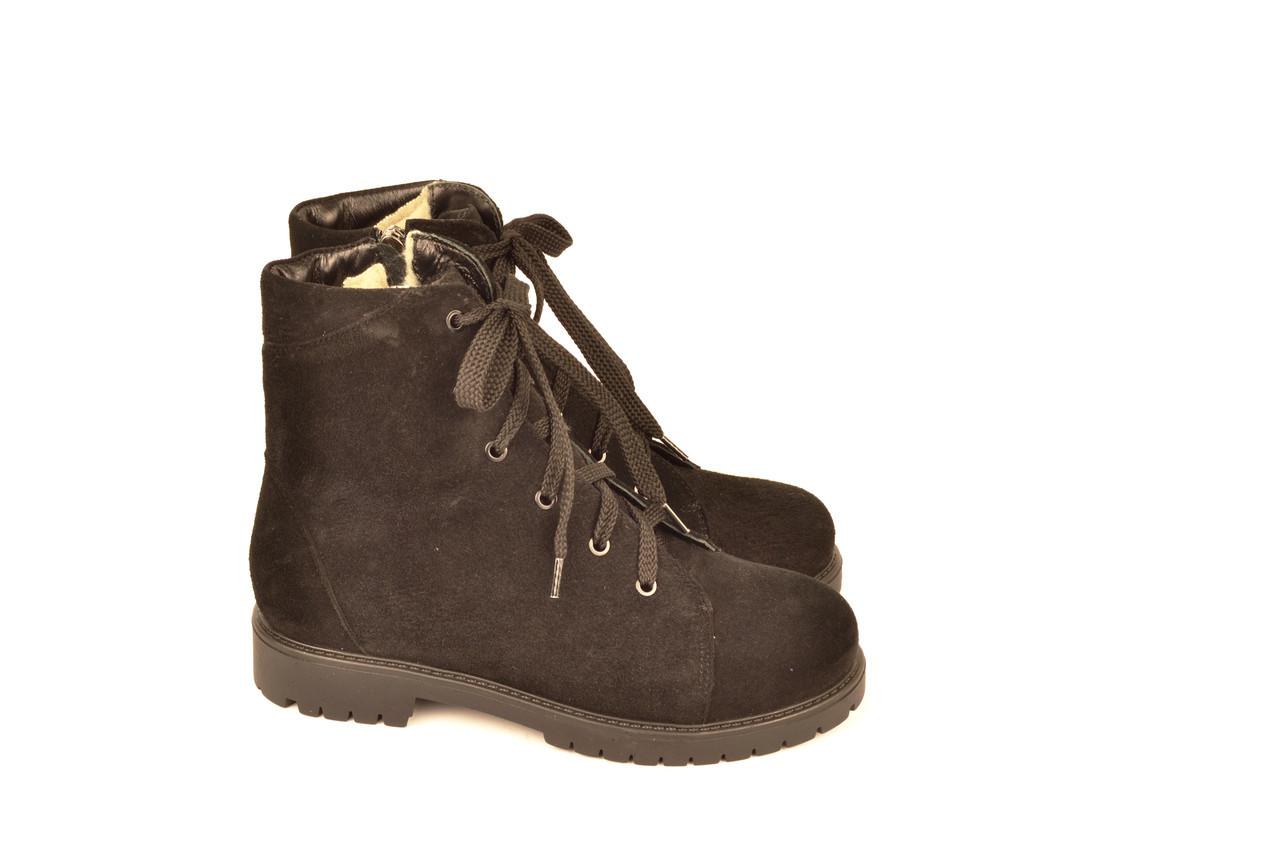 Черевики підліткові для дівчинки натуральна замша чорний зимові і демісезонні від виробника 233103