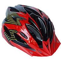Велосипедный шлем универсальный со съемным козырьком SmartWorld FT-09-6 56-62 см Красный 80840240, КОД: 212431
