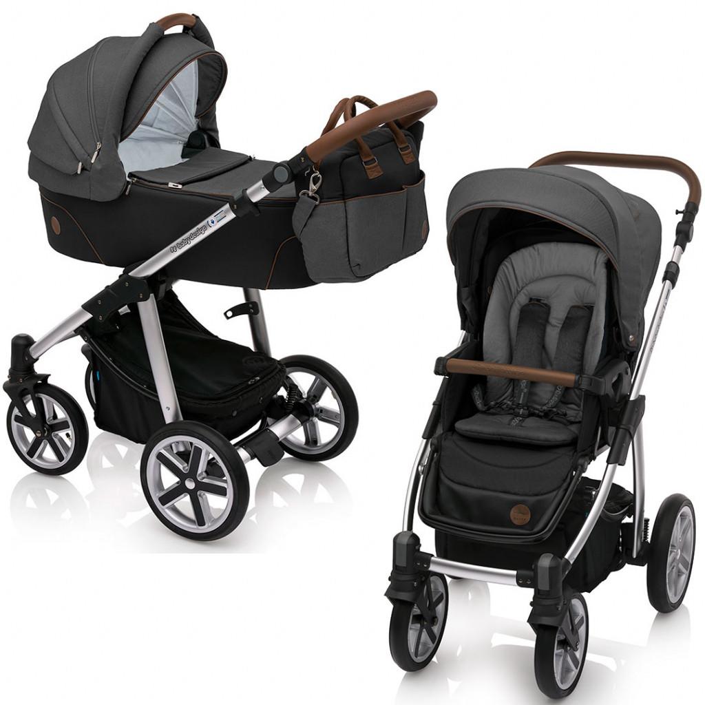 Универсальная коляска 2 в 1 Baby Design Dotty New 10 / Black