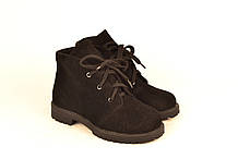 Ботинки для девочки подростковые натуральная замша зимние и демисезонные от производителя 233110