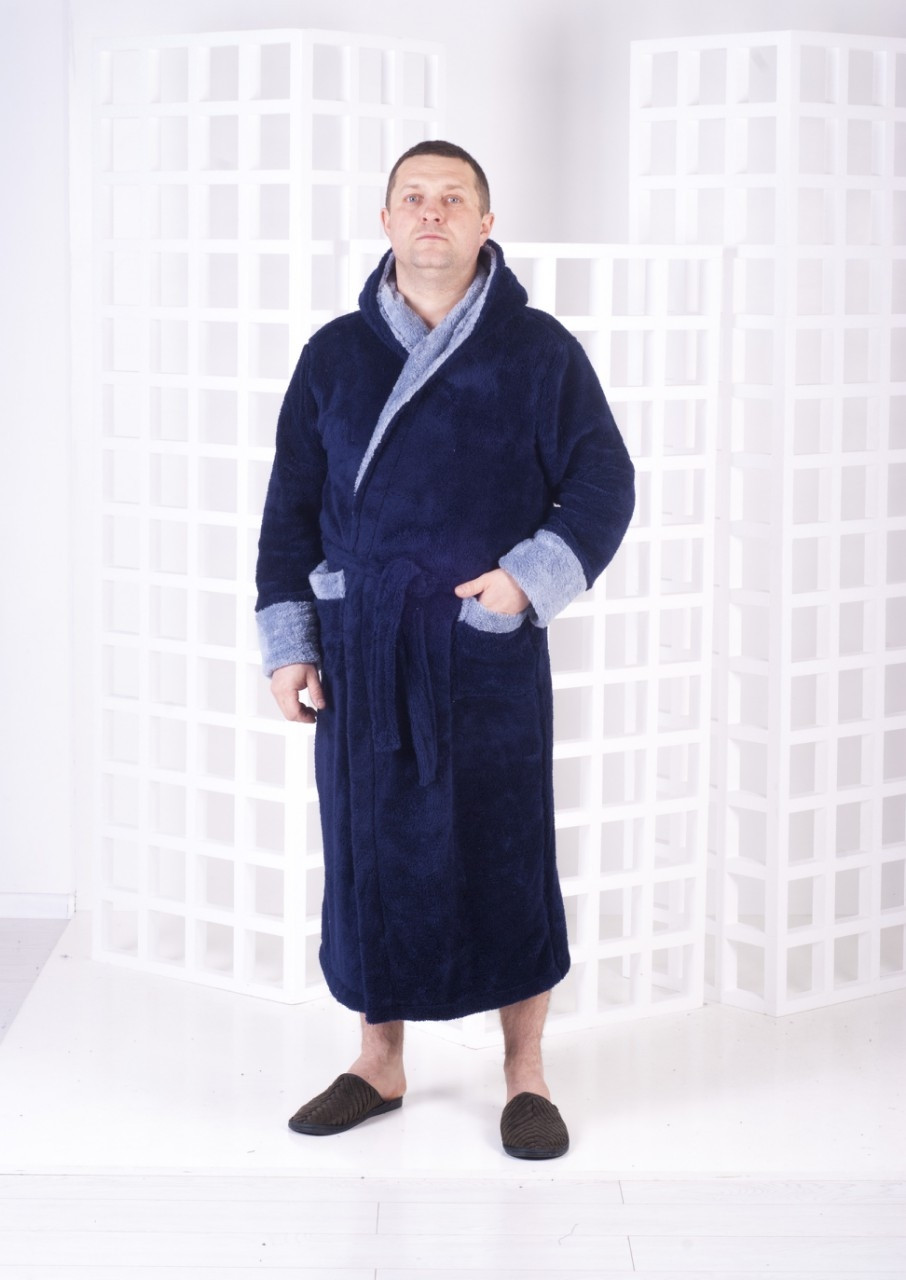 Мужской халат с капюшоном