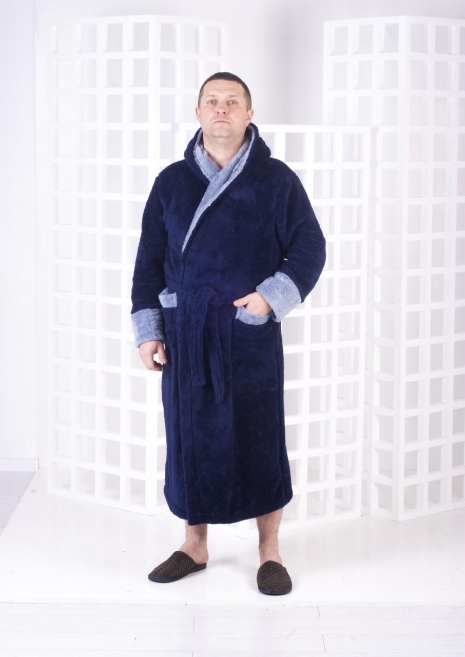 Мужской халат с капюшоном, фото 1