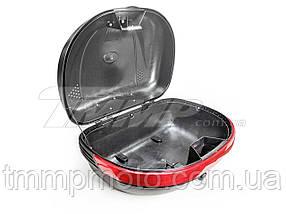 Кофра пластикова велика (44*38*26см) + шолом інтеграл чорний, фото 3