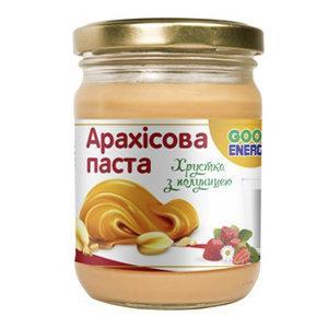 """Арахисовая паста crunch + клубника """"Good Energy"""", 250 гр"""