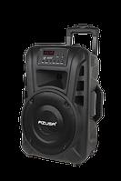 """Акумуляторна колонка 10"""" з підсилювачем AZUSA (з 2-ма безк.мікрофонами, SD, Bluetooth, USB)"""