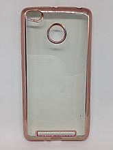 Чехол Xiaomi Redmi 3S Pink Gold
