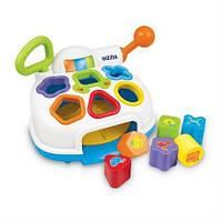 Развивающая музыкальная игрушка сортер для малышей изучение форм и цветов