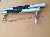 Пороги боковые подножки трубы цвет серебро (снежка) на Ваз 2121 Нива