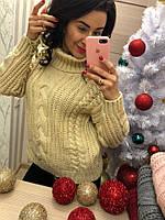 Женский модный свитер под горло (расцветки), фото 1