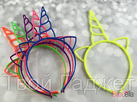 Обруч Единорожек пластик цветной