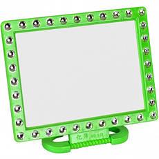 Зеркало на пластиковой подставке «Квадрат с камешками» 18×14 см, фото 3