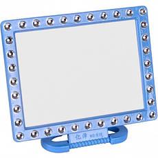 Зеркало на пластиковой подставке «Квадрат с камешками» 18×14 см, фото 2