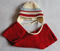 Детская шапочка и шарфик р. 38-42 Польша ( NoG)