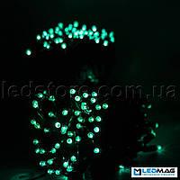 Светодиодная гирлянда уличная Нить 10м 100LED PROF Зеленый/Черный Каучук