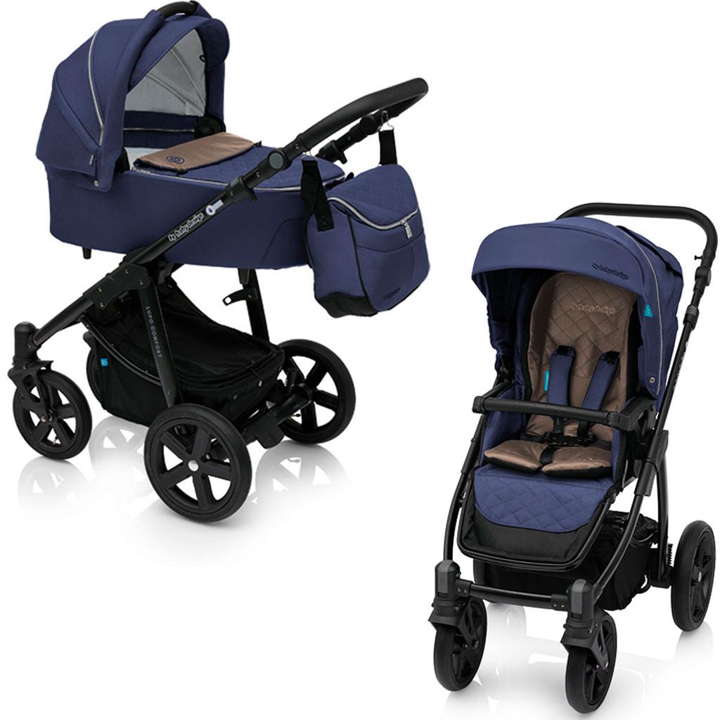 Универсальная коляска 2 в 1 Baby Design Lupo Comfort New 03 / Navy