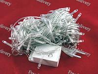 Гирлянда светодиодная новогодняя цветная Штора Дождик 240 LED 3.2 x 2м, фото 1