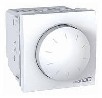 Выключатель с диммером поворотно-нажимной (400Вт), белый, Schneider electric Unica