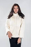 Шуба женская Ваша Шуба Шарлота Кружево Скандинавская Норка 44 Белый