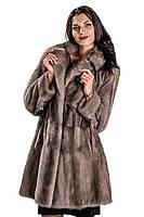 Шуба женская Ваша Шуба Аделаида Скандинаская Норка 44 Серый, фото 1
