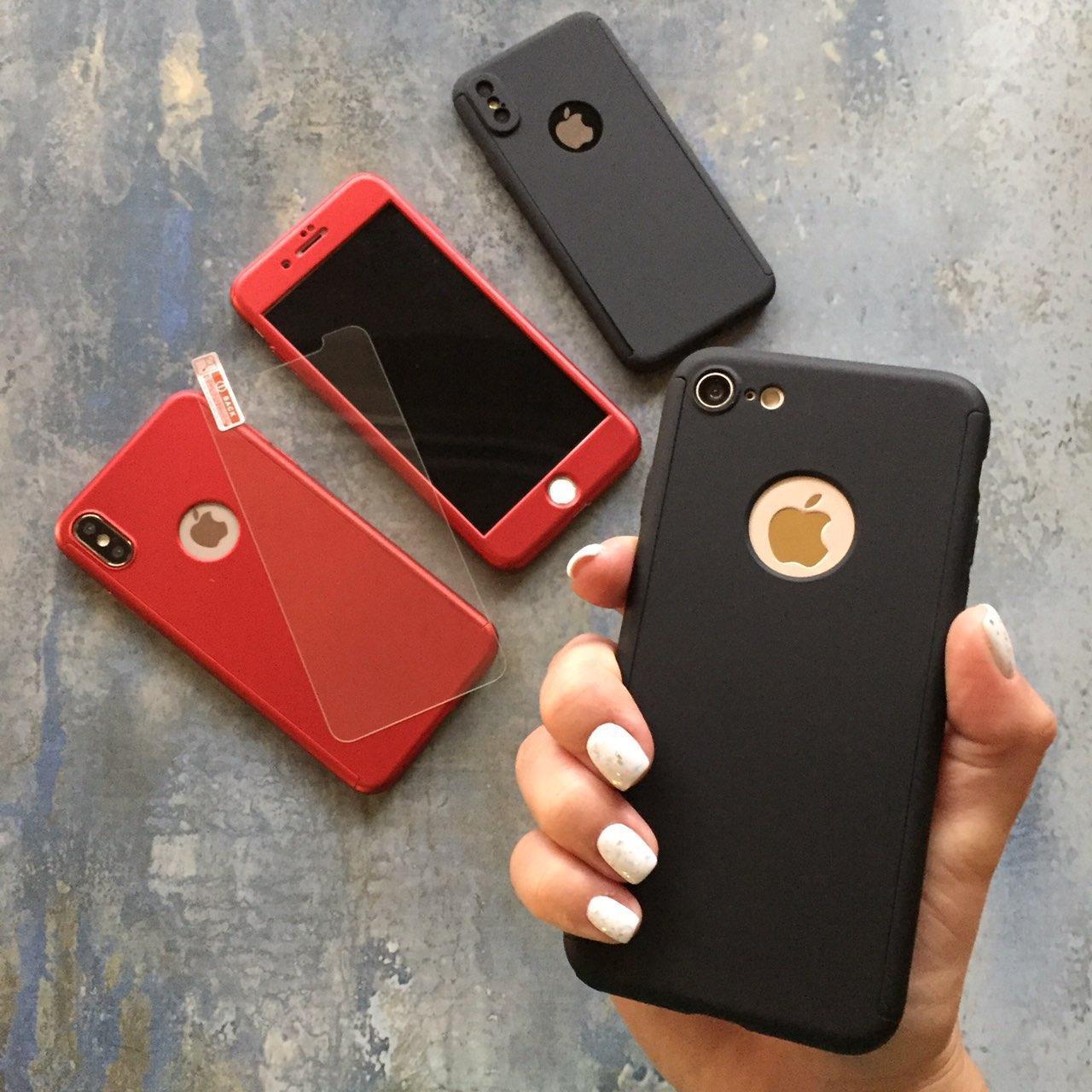 ЧЕХОЛ Full 360 на iPhone 8 Plus гибкий пластик