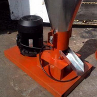 Гранулятор топливных пеллет 220 В/380 В, 2,2 кВт (матрица 120 мм, 60 кг/час)