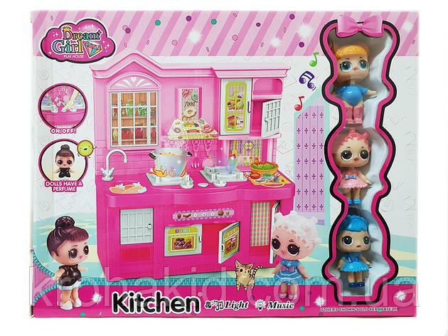 Игровой набор Лол Кухня  / Lol mini kitchen / 3 куклы ЛОЛ, световые и звуковые эффекты -аналог, фото 2