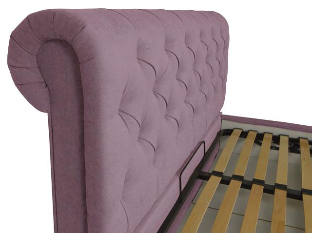 Кровать двуспальная Лондон, Фибрил 24 + стразы (фото 4)