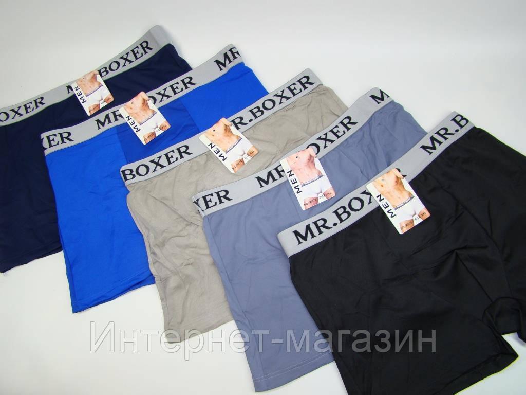 Трусы-боксеры мужские Men R020 стрейч (XL-3XL) код 4109