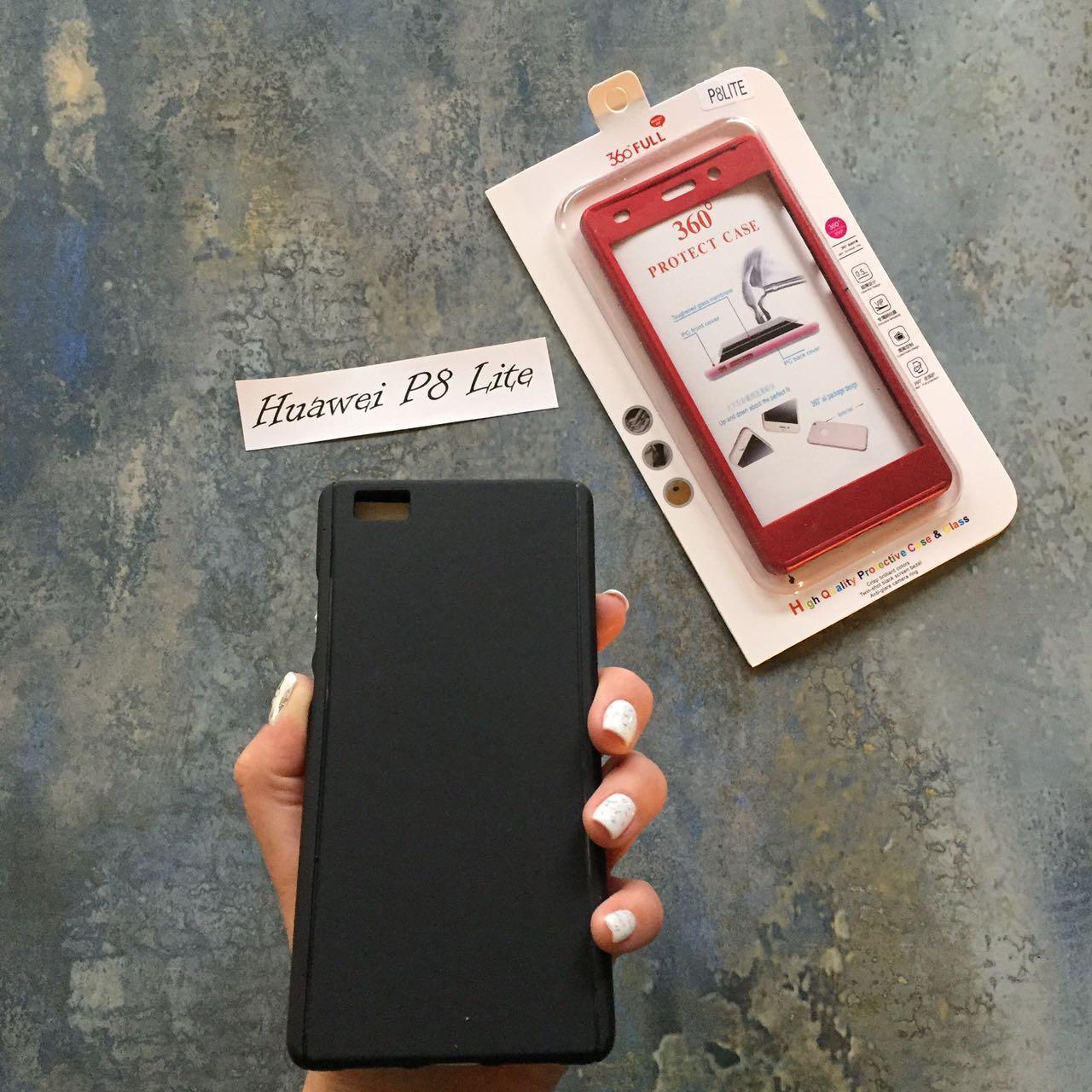 ЧЕХОЛ Full 360 на Huawei P8 lite гибкий пластик