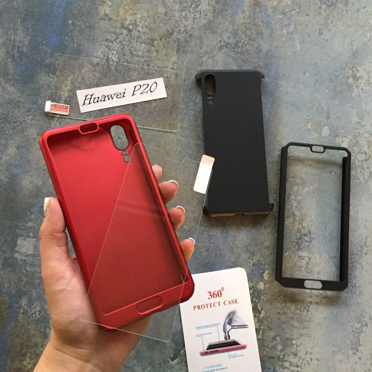 ЧЕХОЛ Full 360 на Huawei P20 гибкий пластик