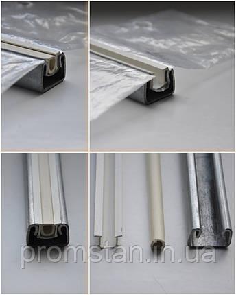 Оцинкованный тепличный профиль с пластиковым зажимом  для пленки, фото 2