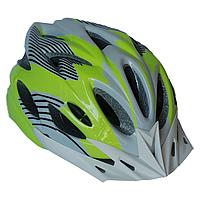 Велосипедный шлем универсальный со съемным козырьком SmartWorld FT-09-13 56-62 см Бело-зеленый 80, КОД: 212429