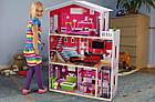 Игровой кукольный домик с лифтом Ecotoys 4118 Malibu (3 этажа) для детей, фото 7