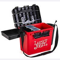 Ящик рыболовный зимний Lucky John (из 6-ти частей) 38x26x31.5cm