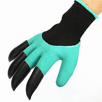 Садовые перчатки грабли с когтями 2 в 1 Garden Gloves