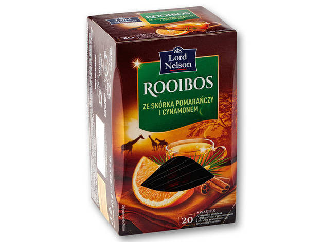 Чай Lord Nelson Tea Rooibos ze skórką pomarańczy i cynamonem 20 пакетов, фото 2