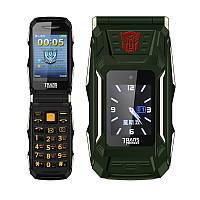 Противоударный раскладной телефон с экраном Land Rover X10 на 2 сим АКБ 4800Мач