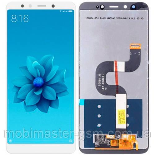 LCD модуль Xiaomi Mi A2 / Mi6X белый service orig