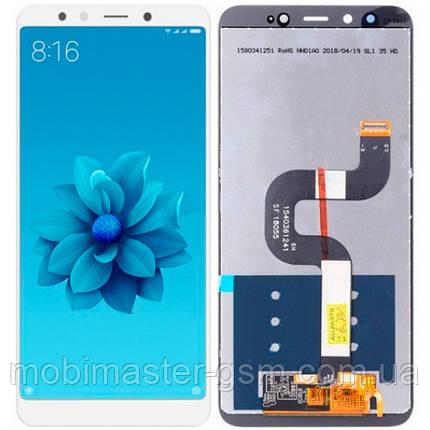 LCD модуль Xiaomi Mi A2 / Mi6X белый service orig, фото 2