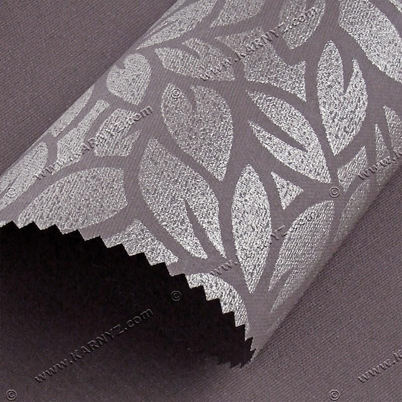 Рулонные шторы Принт Лотос коричневый
