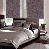 Рулонные шторы Принт Лотос коричневый, фото 6