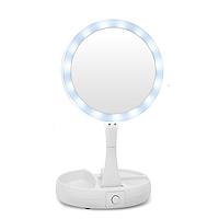 Складное зеркало для макияжа My Foldaway mirror 13 с подсветкой