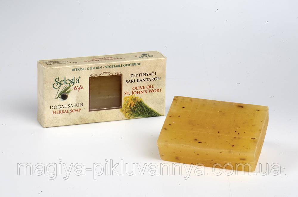 SELESTAlife Глицериновое мыло  Зверобой (Растительный глицерин, оливковое масло и зверобой.) 100 г