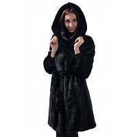 Шуба женская Ваша Шуба Аврора Скандинавская Норка 50 Черный, фото 1