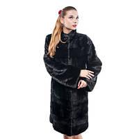 Шуба женская Ваша Шуба Памела Скандинавская Норка 48 Черный, фото 1