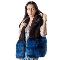 Шуба женская Ваша Шуба Мурсия Американская Норка 44 Фиолетовый, фото 1