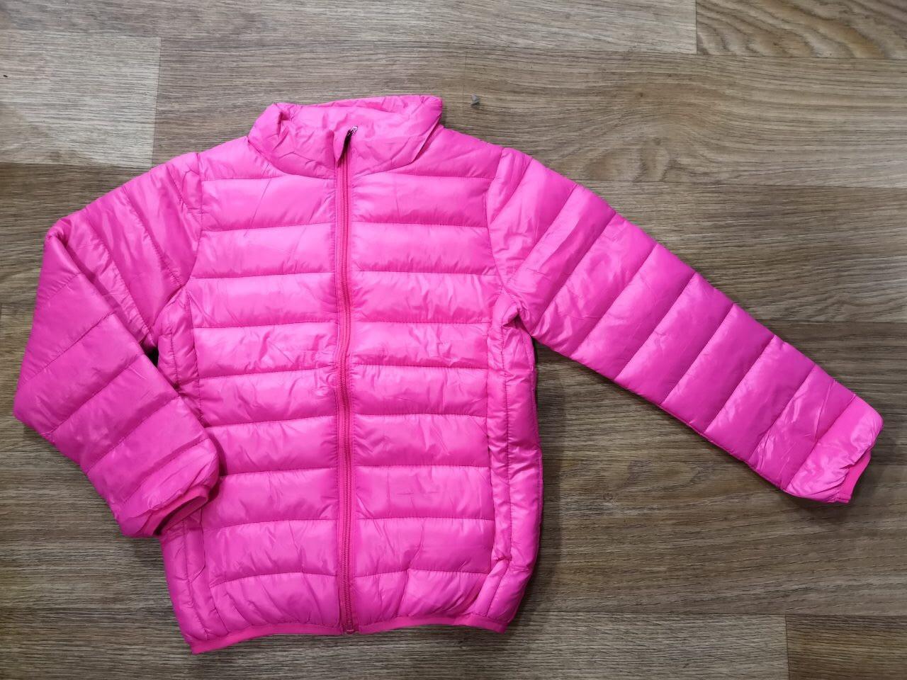 Куртка демисезонная на девочку цвет розовый 122-128 см